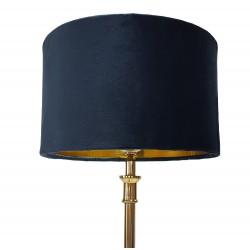 Granatowy abażur cylindryczny do lampt stołowej