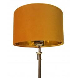 Żółty welurowy abażur cylindryczny Ø 25 do lampy stołowej