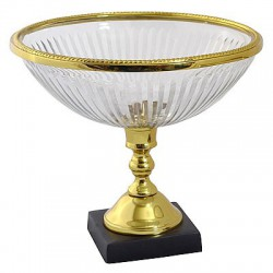 Art Deco misa dekoracyjna szklana