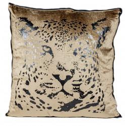 Elegancka duża poduszka welurowa tygrys 50x50