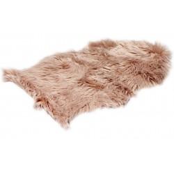 Różowy dywanik shagy dywaniki przy łóżku do sypialni