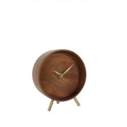 Nowoczesny drewniany zegar stojący do salonu