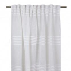 Elegancka biała nowoczesna firana - zasłona z welurem 140x275