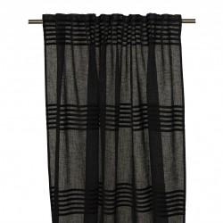 Elegancka czarna nowoczesna firana - zasłona z welurem 140x275