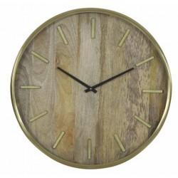 Luksusowy złoty nowoczesny zegar ścienny drewniany Ø51