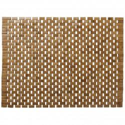 Elegancka mata łazienkowa drewniany dywanik łazienkowy
