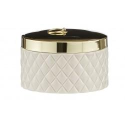 Luksusowa szkatułka złote puzderko na toaletkę