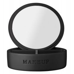 Czarne lusterko kosmetyczne do makijażu stojące