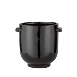 Lene Bjerre czarna doniczka ceramiczna do salonu