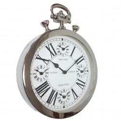 Elegancki niklowany zegar do salonu lub jadalni