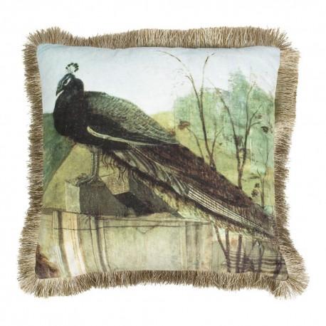 Luksusowa modna welurowa poduszka ozdobna Boho Paw