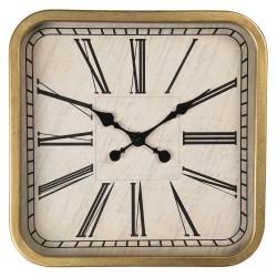 Zegar ścienny złoty kwadratowy Art Deco