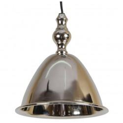 Niklowana lampa zwis nad wyspę, zlewozmywak połysk