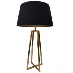 Luksusowawysoka lampa stołowa złota do salonu