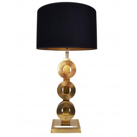 Złota lampa stołowa Art Deco wys.63 cm