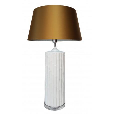 Biała ceramiczna lampa stołowa Hamptons
