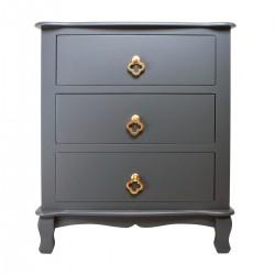 Elegancka szafka - komoda nocna szara do sypialni z szufladami
