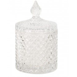 Dekoracyjny pojemnik szklany z pokrywą