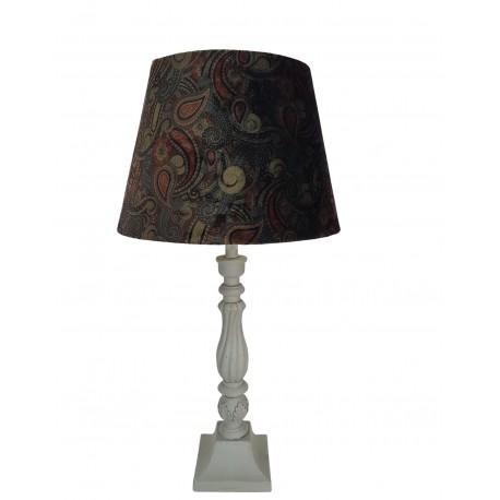 Lampa stołowa drewniana Boho
