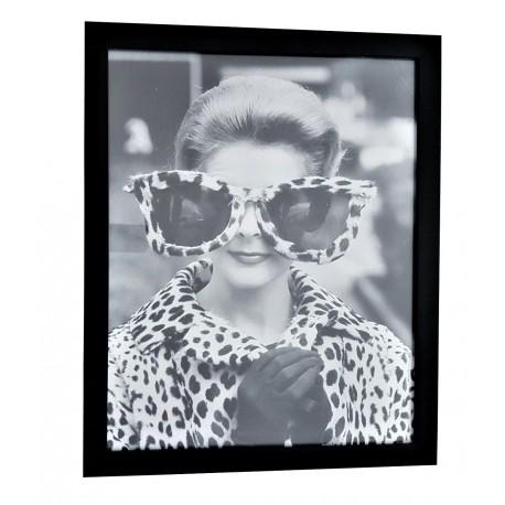 Obraz glamour-obraz czarna rama