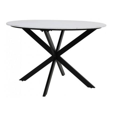 Stół okrągły blat biały marmur