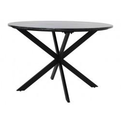 Stół okrągły z czarnym marmurowym blatem