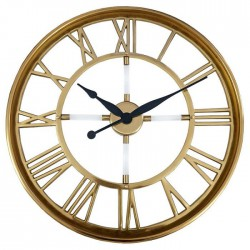 Duży złoty zegar do salonu jadalni na korytarz