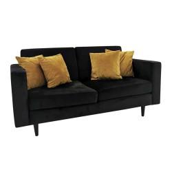Nowoczesna czarna sofa