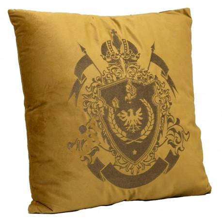 Royal- luksusowa welurowa złota poduszka Lew