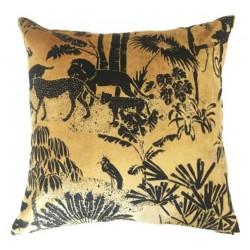 Poduszka czarno złota tygrys