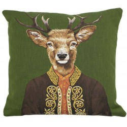 Luksusowa poduszka gobelinowa jeleń