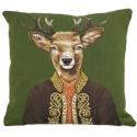 Luksusowa poduszka gobelinowa jeleń 45cm x 45 cm