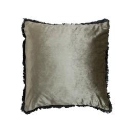 Elegancka aksamitna poduszka srebrzysto zielona