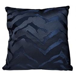 Luksusowa welurowa granatowa poduszka