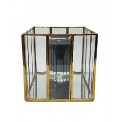 Złoty lampion lustrzany -fazowane szybki