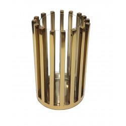 Nowoczesny srebrny lampion do salonu