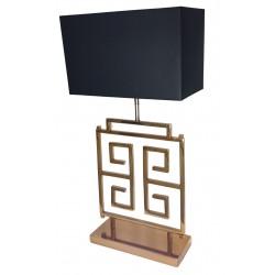 Duża luksusowa złota lampa stołowa