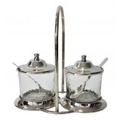 Eleganckie dodatki kuchenne glamour pojemniki na dipy