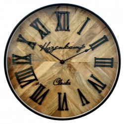 Nowoczesny zegar skandynawski - drewno