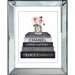 Obraz w lustrzanej ramie Chanel Glamour