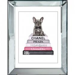 Obraz w lustrzanej ramie Chanel Prada Glamour