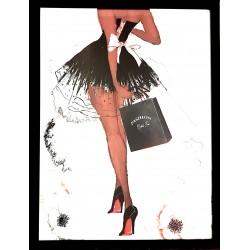 Obraz Glamour salon-sypialnia w czarnej ramie