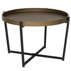 Stolik kawowy czarno złoty