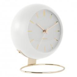 Luksusowy zegar stojący biały-złoty