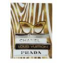 Luksusowy obraz na szkle 60x80 do salonu w stylu Glamour - Chanel-Dior-Prada