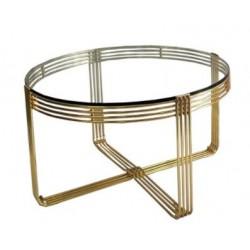 Elegancki złoty stolik kawowy glamour-Art Deco