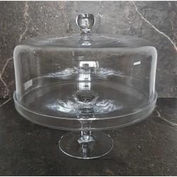 Patera szklana z kloszem na ciasto Ø 24