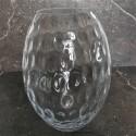 Nowoczesny wysoki wazon szklany-kryształowy połysk h28