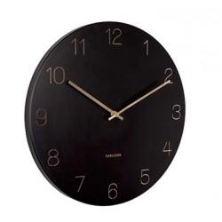 Zegar ścienny czarno złoty