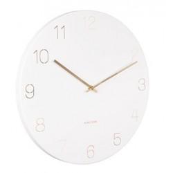 Zegar ścienny biały złoty